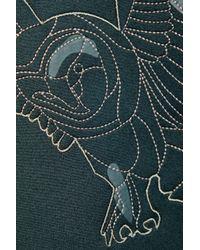 Adidas By Stella McCartney - Black We Embroidered Appliquéd Neoprene And Twill Sweatshirt - Lyst