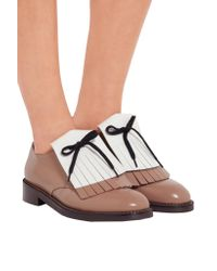 Marni - Brown Fringed Leather Brogues - Lyst
