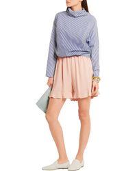 Stella McCartney - Multicolor Contessa Ruffled Stretch-crepe Shorts - Lyst