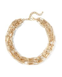 Kenneth Jay Lane - Metallic Gold-tone Necklace - Lyst