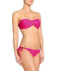 Heidi Klein - Pink Embellished Low-rise Bikini Briefs - Lyst