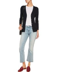 J Brand - Blue Westmore Open-knit Cotton Cardigan - Lyst
