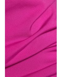 MICHAEL Michael Kors   Pink Chain-trimmed Stretch-jersey Top   Lyst