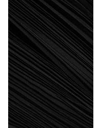Totême  - Black Tangier Plissé-crepe Tapered Pants - Lyst