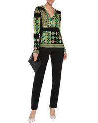 Emilio Pucci - Green Metallic Jacquard-knit Sweater - Lyst
