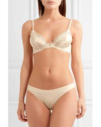 La Perla - White Macrame Tale Lace And Stretch-jersey Mid-rise Briefs - Lyst