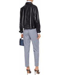 Nina Ricci - Woman Checked Wool-blend Twill Straight-leg Pants Light Blue - Lyst