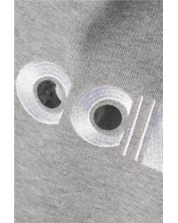 Carven | Gray Appliquéd Cotton Sweatshirt | Lyst