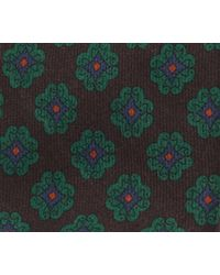 Calabrese 1924 - Brown And Green Ancient Madder Wool Tie for Men - Lyst