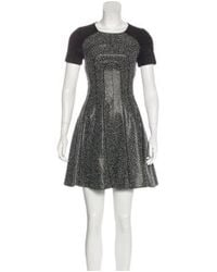 Karen Millen - Gray Tweed Mini Dress W/ Tags Black - Lyst