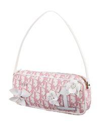 Dior - Metallic Diorissimo Handle Bag Pink - Lyst