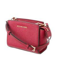 MICHAEL Michael Kors - Metallic Michael Kors Mini Selma Crossbody Bag Gold - Lyst