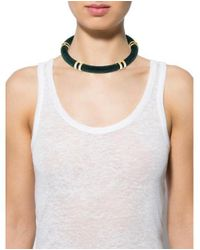 Lulu Frost - Metallic Fabric Collar Necklace Gold - Lyst