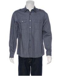 Michael Kors - Blue Plaid Woven Shirt Navy for Men - Lyst