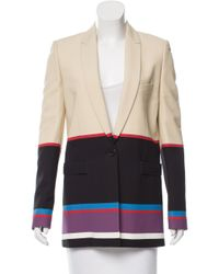 Givenchy - Natural Colorblock Button-up Blazer Khaki - Lyst