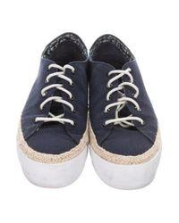 Tory Burch - Blue Espadrille Low-top Sneakers Navy - Lyst