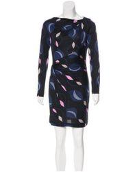 Diane von Furstenberg - Black Printed Jarley Dress - Lyst