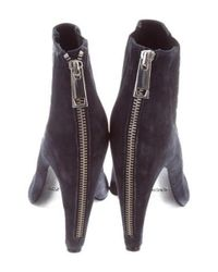 Rachel Zoe - Blue Suede Pointed-toe Ankle Boots - Lyst