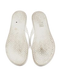 Louis Vuitton - White Laser Cut Rubber Thong Sandals - Lyst
