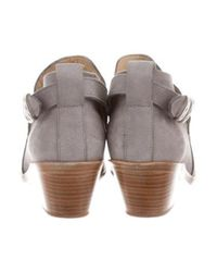 Rag & Bone - Metallic Nubuck Ankle Boots Grey - Lyst