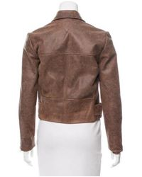 VEDA - Brown Reno Leather Jacket - Lyst