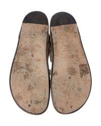 Isabel Marant - Metallic Edris Embellished Sandals Olive - Lyst