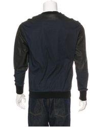 3.1 Phillip Lim - Blue Lambskin-trimmed Sweatshirt Navy for Men - Lyst