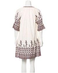 Ulla Johnson - Embroidered Midi Dress Burgundy - Lyst