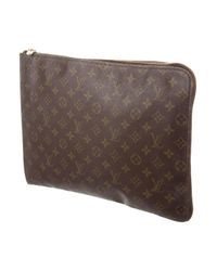 Louis Vuitton - Natural Vintage Monogram Poche Documents Portfolio Brown for Men - Lyst