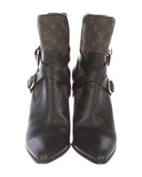Louis Vuitton - Green Monogram Ankle Boots Olive - Lyst