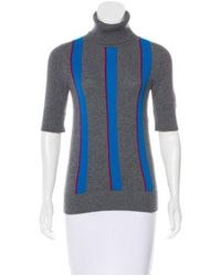 Chanel - Gray 2016 Cashmere Turtleneck Top Grey - Lyst