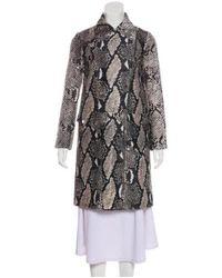 Diane von Furstenberg - Black Long Sleeve Knee-length Coat - Lyst
