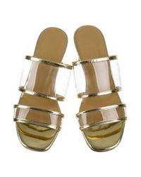 Maryam Nassir Zadeh - Metallic Martina Slide Sandals W/ Tags Clear - Lyst