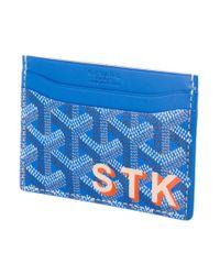Goyard - Blue 2015 Saint Sulpice Card Holder W/ Tags - Lyst