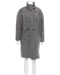 IRO - Gray Aylina Wool Coat Grey - Lyst
