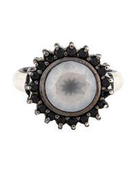 M.c.l  Matthew Campbell Laurenza - Metallic Quartz, Spinel & Enamel Ring Silver - Lyst