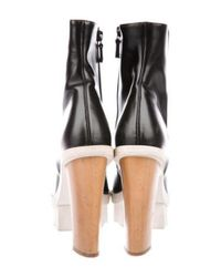 Stella McCartney - Black Vegan Platform Ankle Boots - Lyst