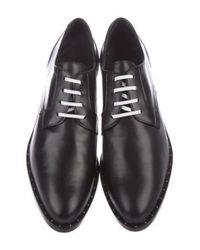 Frēda Salvador - Metallic Studded Leather Oxfords Black - Lyst