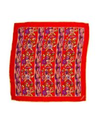Missoni - Red Printed Square Scarf - Lyst