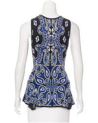 Torn By Ronny Kobo - Blue Sleeveless Knit Top - Lyst