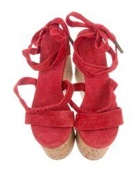 Isabel Marant - Red Platform Cork Wedges - Lyst