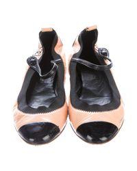 Chanel - Natural Stretch Spirit Patent Leather Pumps Tan - Lyst