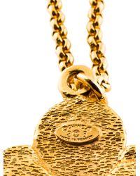 Chanel - Metallic Faux Pearl & Gripoix Long Pendant Necklace Gold - Lyst