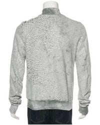 Rick Owens Drkshdw - Metallic Cracked Zip-up Jacket White for Men - Lyst