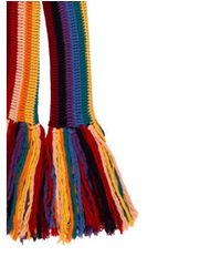 Marc Jacobs - Red Knit Fringe Scarf - Lyst