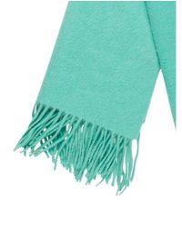 Marc Jacobs - Green Cashmere Fringe-trimmed Scarf Mint - Lyst