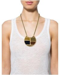 Lizzie Fortunato - Metallic Enamel Pendant Necklace Gold - Lyst