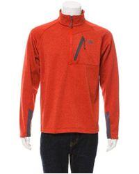 The North Face - Pullover Zip-up Sweatshirt Orange for Men - Lyst