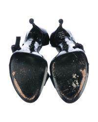 Roger Vivier | Black Patent Leather Half D'orsay Sandals | Lyst