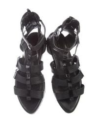 Alexander Wang - Black Embossed Cages Sandals - Lyst